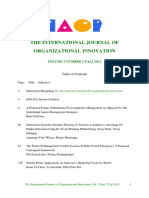 International Journal of Organizational Innovation Final Issue Vol 5 Num 2 Fall 2012