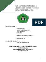 Akuntansi Agribisnis Sektor Produksi PT ASTRA AGRO LESTARI