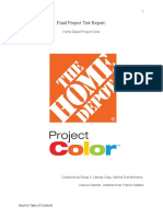 Usability Test Report for Home Depot Project Color