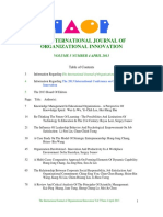 International Journal of Organizational Innovation Final Issue Vol 5 Num 4 April 2013