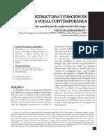 Estructura y Función en Pedagogía Vocal Contemporánea