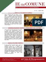 Notizie Dal Comune di Borgomanero del 7 Aprile 2016