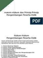 Hukum-Hukum Dan Prinsip-Prinsip Pengembangan Peserta Didik