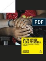 Enfrentarse a Una Pesadilla-Desapariciones Mexico