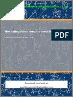 Fire Extinguisher Monthly Checklist PDF