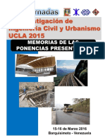 """Memorias """"I Jornadas de Investigación de Ingeniería Civil y Urbanismo UCLA 2015"""""""