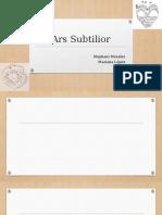 Ars Subtilior Presentacion