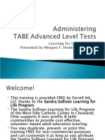 Administering TABE Advanced Level Tests
