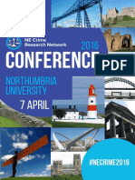 North East Crime Research Network Conference Detail Programme 2016