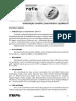 Geografia_ Urbanizacão - Conceitos, Características e Problemas