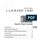 Nikon CoolPix Camera L840 Quick Start Guide