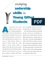 developing leadership skills in young gifted students