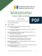International Journal of Organizational InnovationFinal Issue Vol 6 Num 3 January 2014