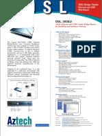 Aztech DSL305EU ADSL Ethernet USB Combo Router Product Brochure