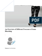 An Overview of Different Processes of Jeans Bleaching