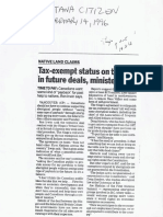 1996-02-14 Liberals Re Tax Exemption
