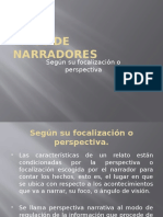 Tipos de Focalizaciones Narrativas.