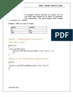 April code 2010 solved