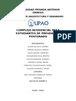 RESIDENCIAL ESTUDIANTIL ANALISIS (PIURA)