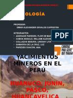 Yacimientos Mineros en El Perú