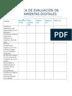 Rubrica de Evaluación de Herramientas Digitales