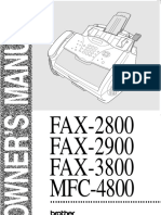 Brother PPF-2900 Plain-Paper Fax