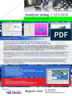 Piping Stress Analysis Using CAESAR-II Indonesia