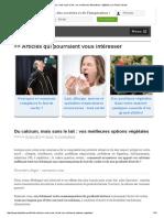 Du Calcium, Mais Sans Le Lait _ Vos Meilleures Alternatives Végétales _ Le Palais Savant