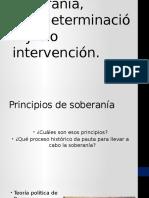 5 Soberanía, Autodeterminación y No Intervención