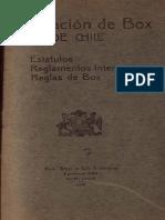 Federación de Box de Chile, reglamento del boxeo