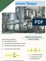 Balance de Materia en Reactores Tanque