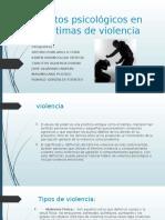Aspectos Psicológicos en Las Víctimas de Violencia