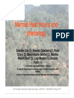 Normal Heat Hours and Phenology