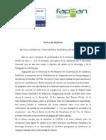 Nota de Prensa y Conclusiones V Encuentro Nacional de Orientación_2010