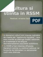 Cultura Si Stiinta in RSSM