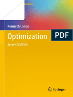 Optimization - K. Lange