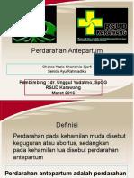 Referat Perdarahan Antepartum April 2016