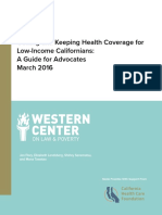 Western Center 2016 Health Care Eligibility Guide Table of Contents