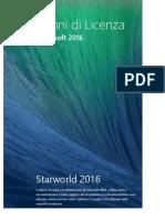 condizioni di licenza starworld 2016