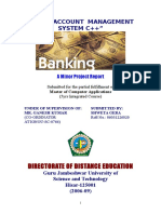 BANK MANAGEMENT SYSTEM C++ 107P