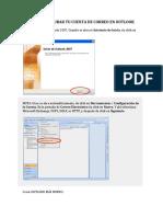 Configuracion Outlook 2015