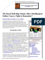 JOM Article on the Titanic_ Did a Metallurgical Failure Cause a Night to Remember_ Ok
