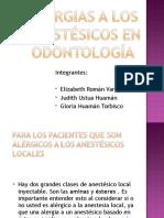 Alergias a Los Anestésicos en Odontología