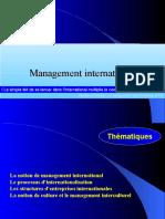 Management International(l Essentiel)