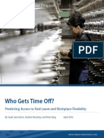 Who Gets Time Off? Predicting Access to Paid Leave and Workplace Flexibility