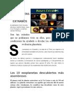 Los Exoplanetas Más Extraños