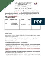 Convocação Assistente Administrativo Em 15-02-2016 - Morretes