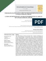 Fisiografia FISIOGRAFIA DA PAISAGEM E ASPECTOS BIOGEOMORFOLÓGICOS DO LAVRADO, RORAIMA, BRASIL