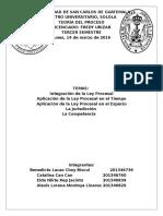 La ley procesal, jurisdicción y competencia