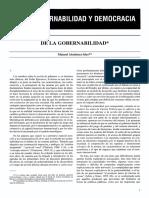 De La Gobernabilidad - Manuel Alcántara Sáez